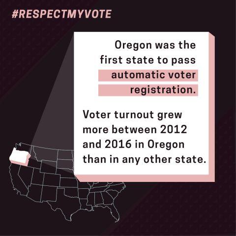 Oregon Automatic Voter Registration Graphic