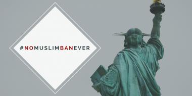 Statue of Liberty - No Muslim Ban Ever