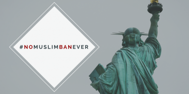 Statue of Liberty - No Muslim Ban Ever
