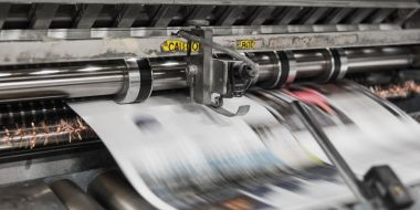 newspapers being printed