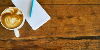 Reporter-notebook-coffee